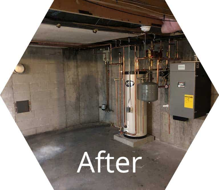 after photo of gas boiler