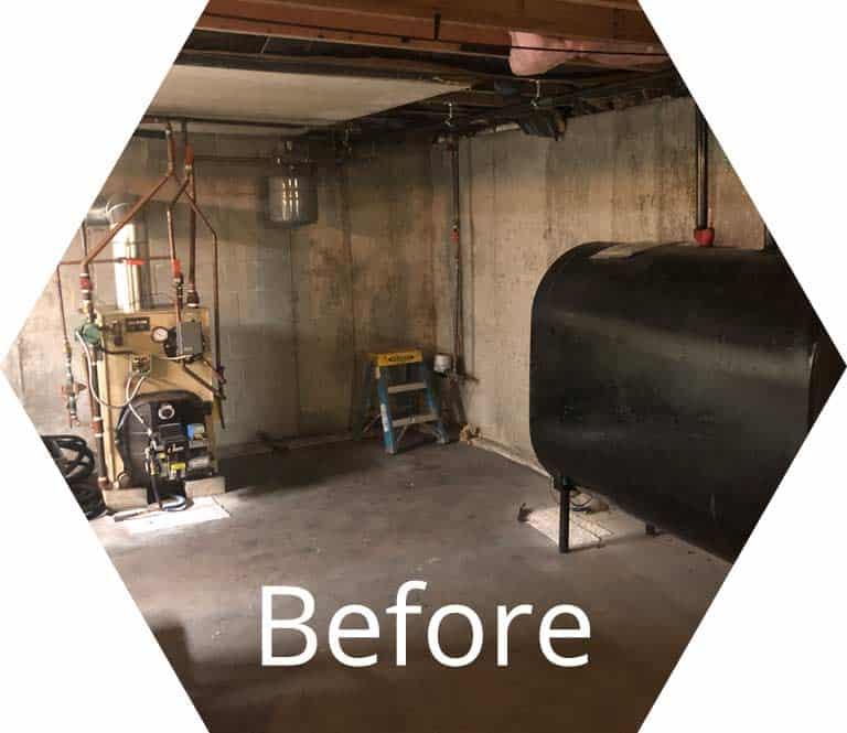 before photo of oil burner